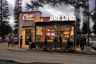 Exterior of Raising Cane's