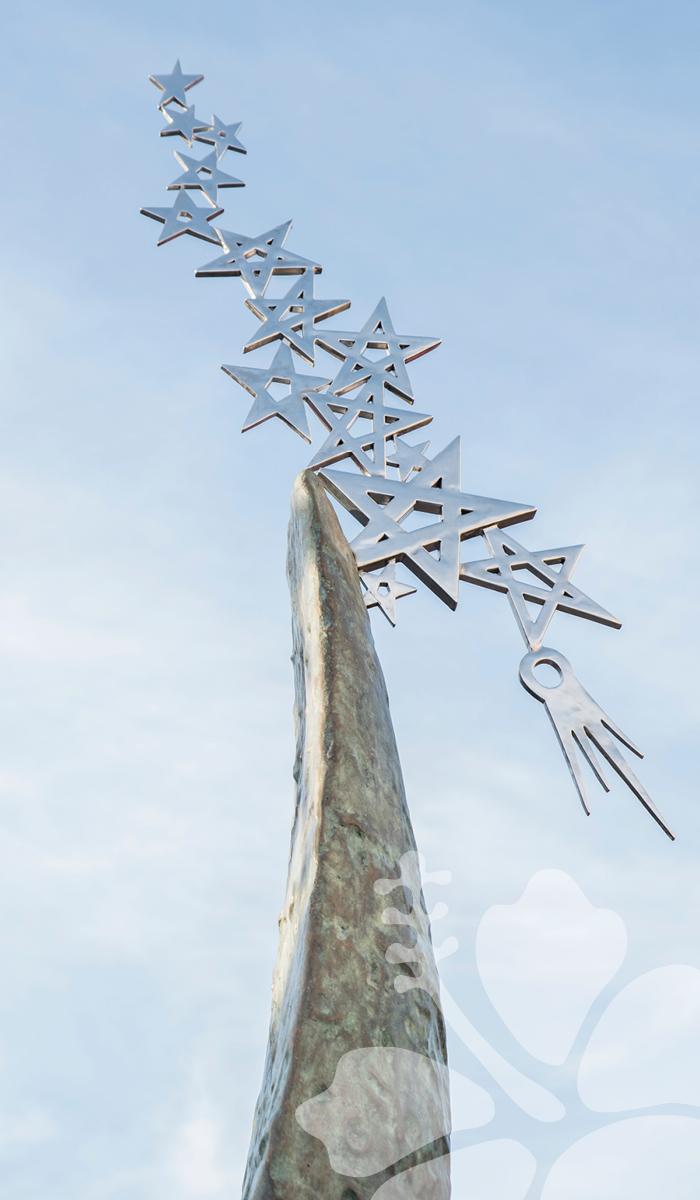 Starstruck sculpture top view of stars